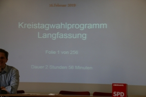 Wahlparteitag SPD Oberhavel 16.02.2019